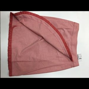 J Crew pink skirt with frill detail Size 0